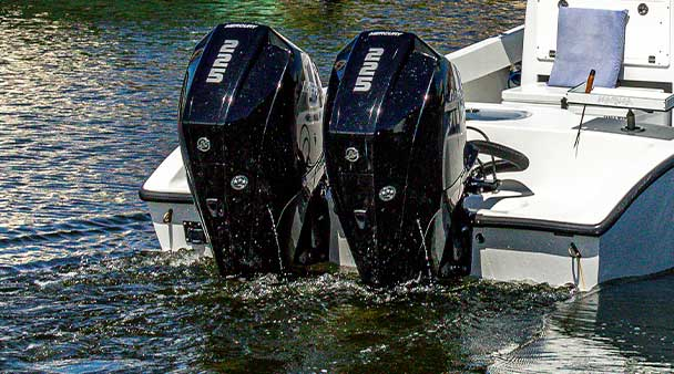 Twin 225 Mercury 4 Stroke Engines | Fishing and Eco-Tour Charters in Fort Myers and Naples Florida - Pica Charters, LLC